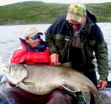 """Near World Record Lake Trout (skip to """"7:40"""" to see the ..."""